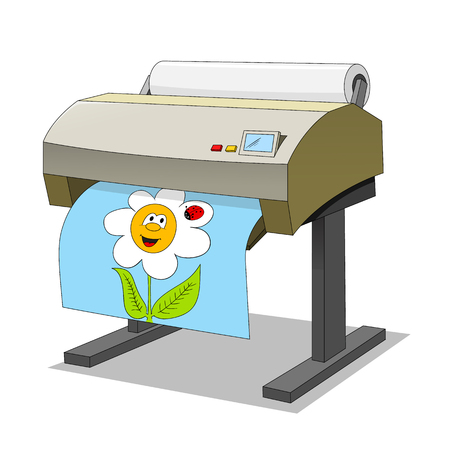 Large printer Vector
