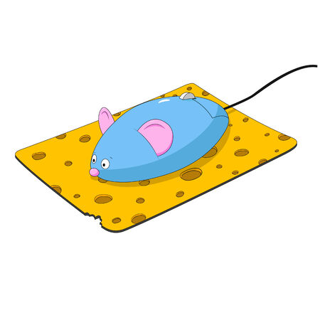 mouse pad: Mice on the table Illustration