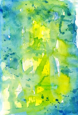 Watercolor abstract composition