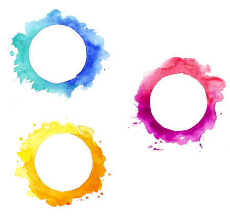 Watercolor round frames