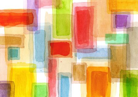 Abstract watercolor squares Stock Photo