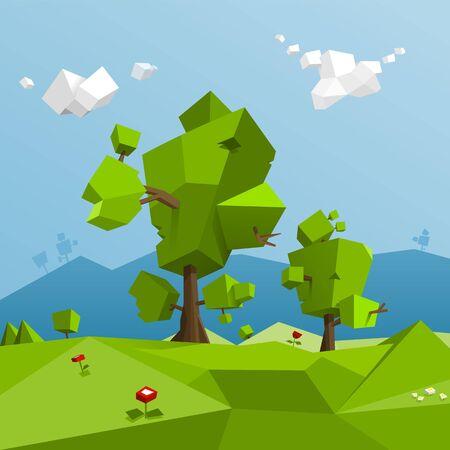 landscape: Low poly landscape