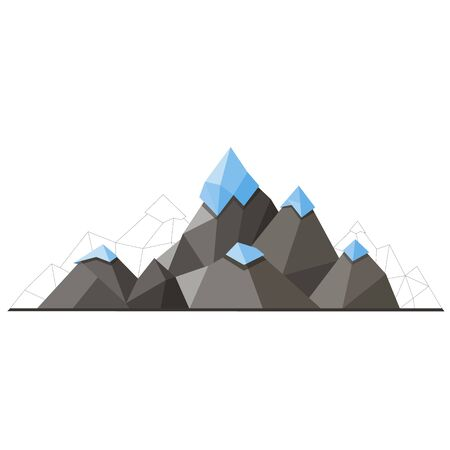 Low poly mountain Illustration