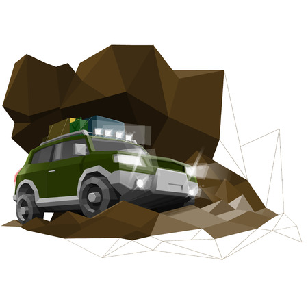low tire: Low poly offroad