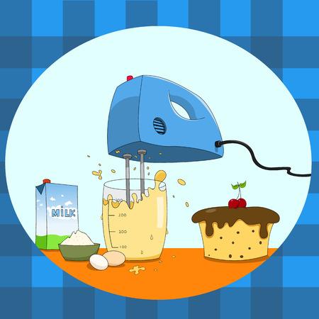 Hand mixer Illustration