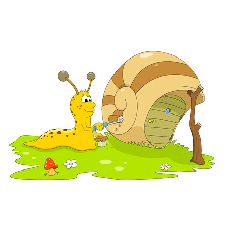 Snail the painter