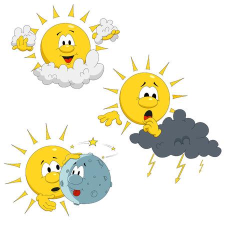 Cartoon sun Illustration