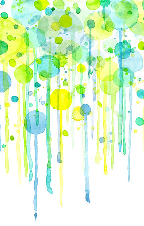 Green and yellow abstract bubbles