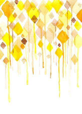 Watercolor diamonds Stock Photo