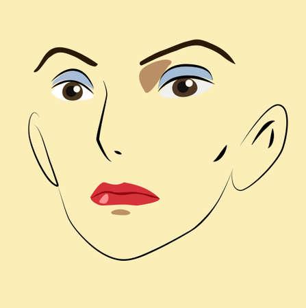 Women face Ilustração