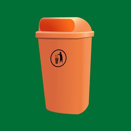 container for garbage Ilustração
