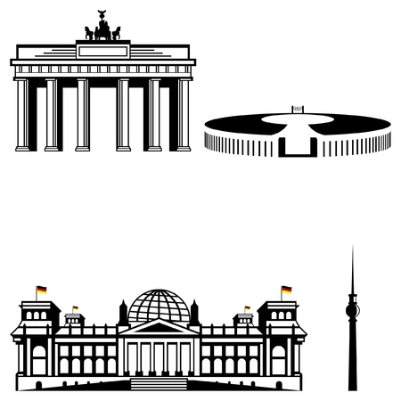 berlin monuments Stock Vector - 19085398