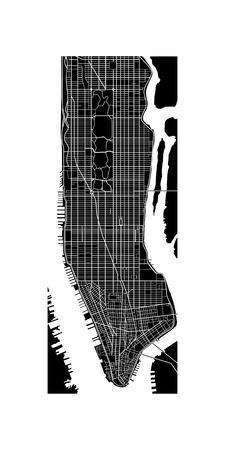 central park: Manhattan mapa Vectores