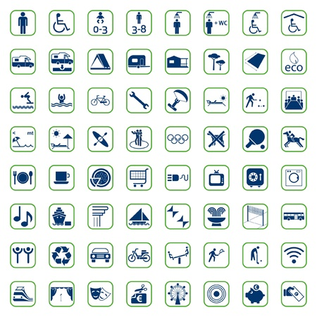 Set Camping Icon Vector