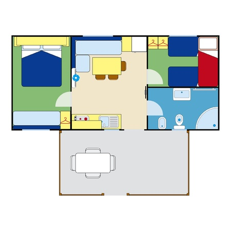 apartment plan Vector