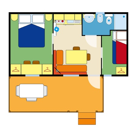 apartment plan Stock Vector - 19331582