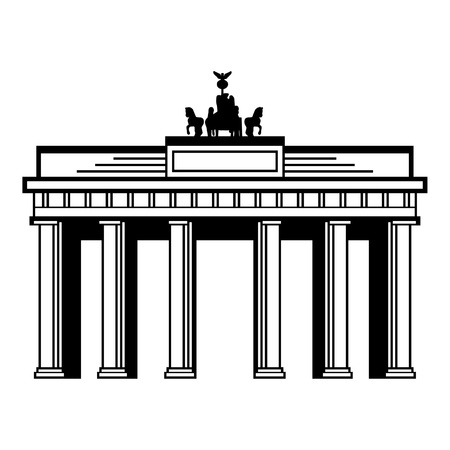 Brandenburger Tor Stock Illustratie
