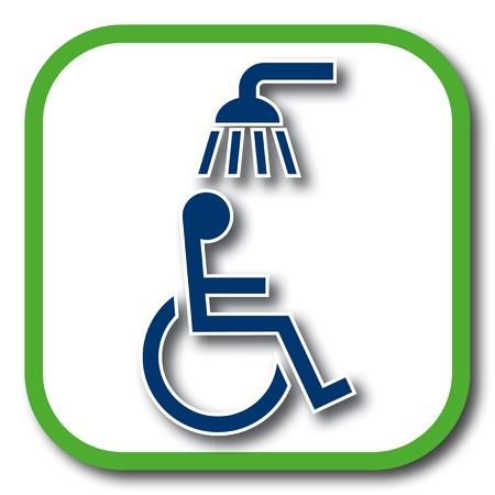 shower room: wheelchair shower icon