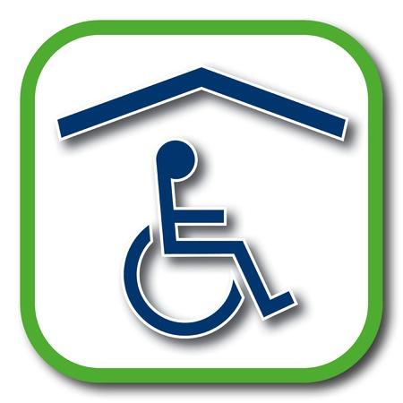 휠체어 홈 아이콘