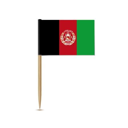 afghanistan': afghanistan flag Illustration