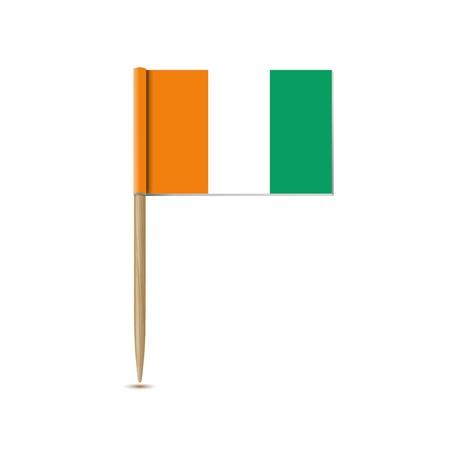cote d ivoire: cote d ivoire flag Illustration