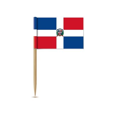 dominican republic: dominican republic flag Illustration
