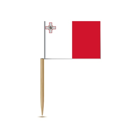 malta: malta vlag Stock Illustratie