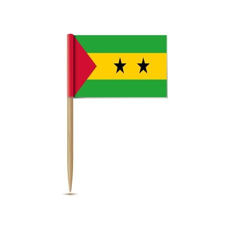 principe: Santo Tom� y Pr�ncipe bandera Vectores