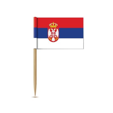 serbien: Serbien-Flagge