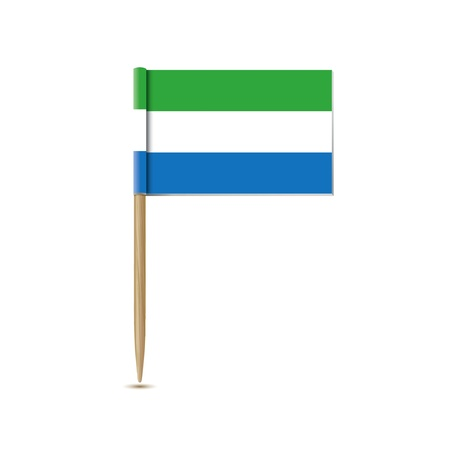 sierra: sierra leone flag Illustration