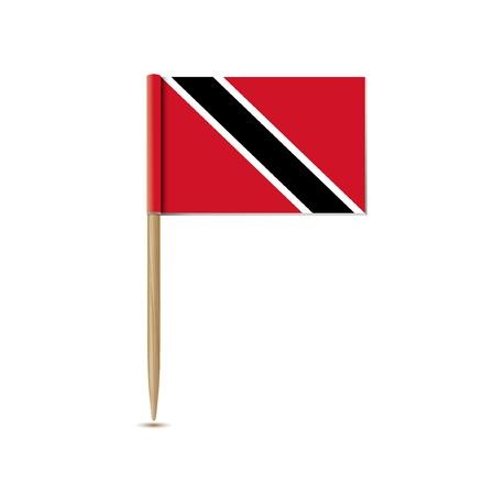 trinidad: Trinidad and Tobago flag Illustration