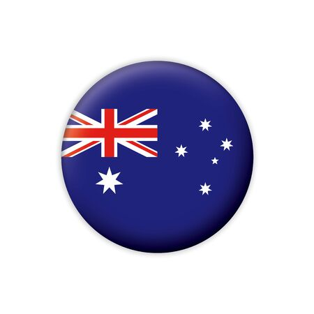 Flag button series Australia