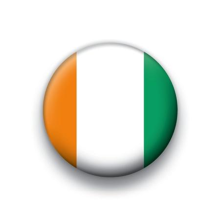 cote d ivoire: Flag button series Cote d Ivoire