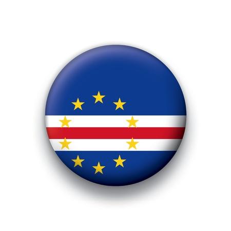 cape verde flag: Flag button series Cape Verde