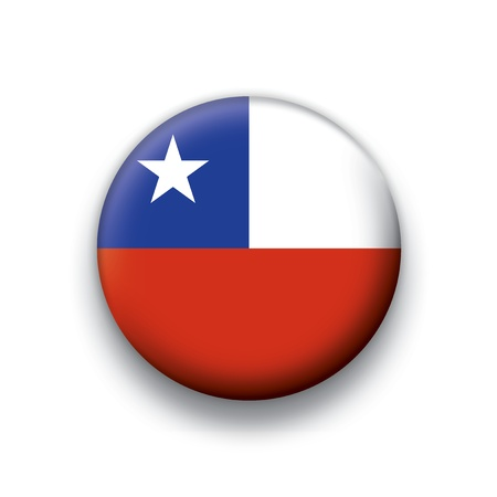 Flag button series Chile Vector