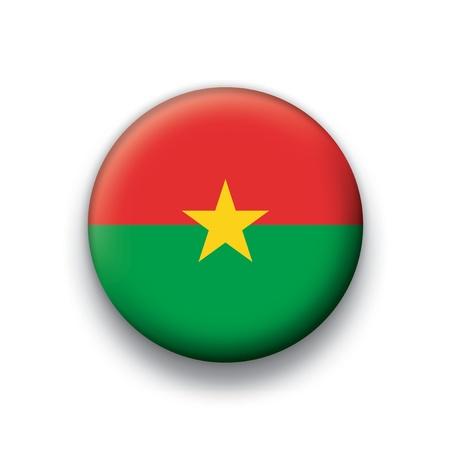 burkina faso: Flag button series Burkina Faso Illustration