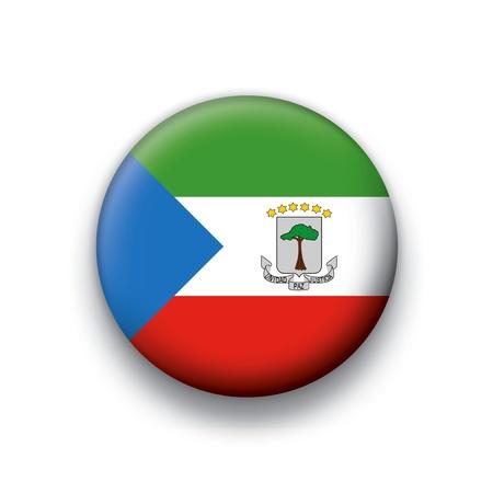guinea equatoriale: Pulsante serie di bandiera della Guinea Equatoriale