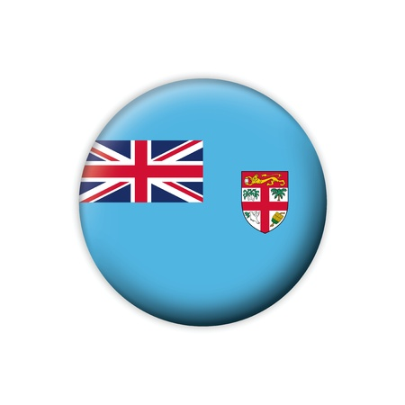 fiji: Flag button series Fiji Illustration
