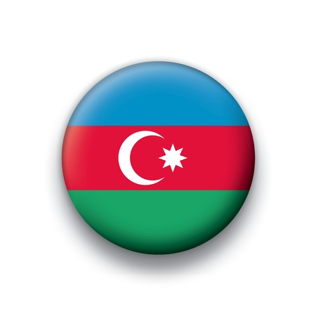 azerbaijan: Flag button series Azerbaijan Illustration
