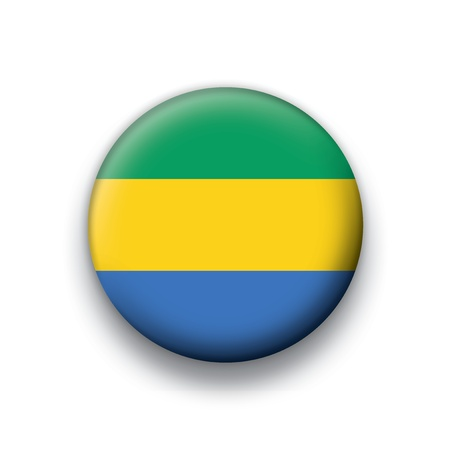 gabon: Flag button series Gabon Illustration