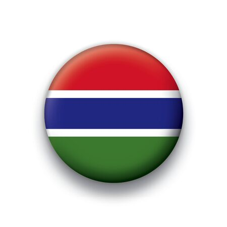 gambia: Flag button series Gambia Illustration