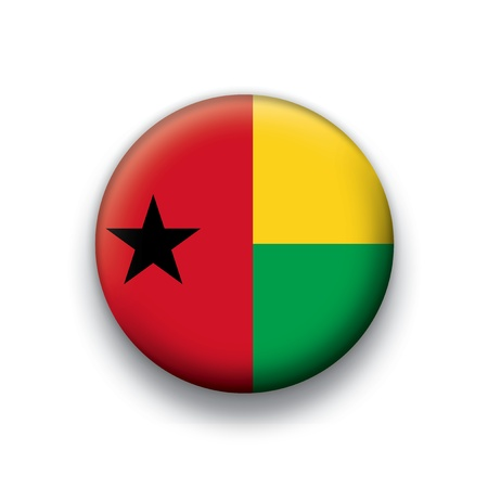 guinea bissau: Flag button series Guinea Bissau