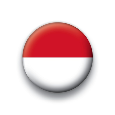 Flag button series Indonesia Illustration