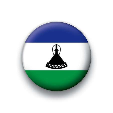lesotho: Flag button series Lesotho