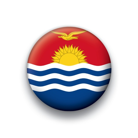 kiribati: Flag button series Kiribati