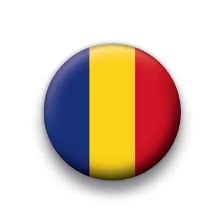 chad: Flag button series Chad