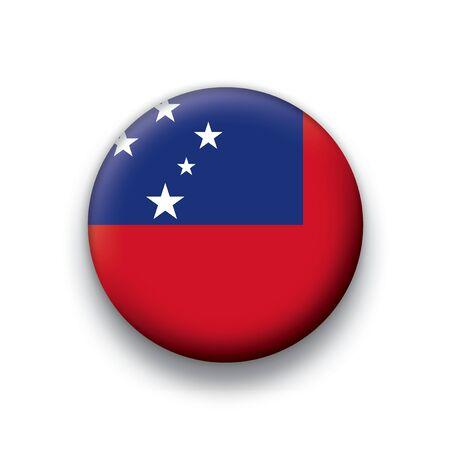 samoa: Flag button series Samoa Illustration