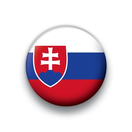 slovak: Vector flag button series of all sovereign countries - Slovak Republic