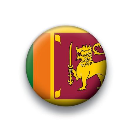 Vector flag button series of all sovereign countries - Sri Lanka Vector