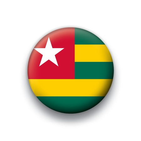 togo: Vector flag button series of all sovereign countries - Togo